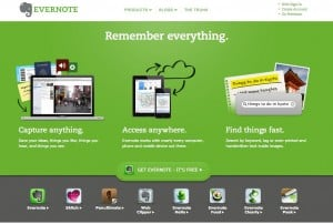 Image of Evernote Homepage