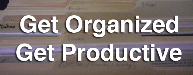 Improve Productivity Through Organization – 5 Steps