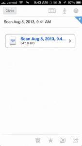 Scanner Pro Evernote