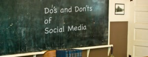 The Do's and Don'ts of Social Media - Blackboard graphic