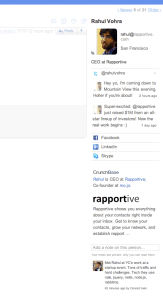 Rapportive Sidebar Example